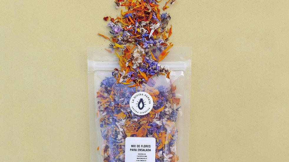Mix flores comestibles La divina papaya