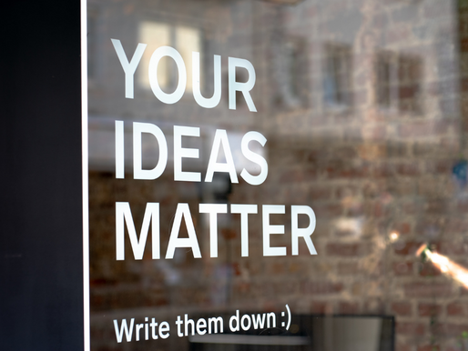 Success Starts with Ideas: What are Yours?