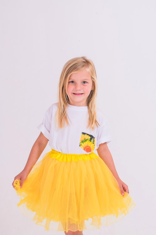Girls Sunflower Pocket T-shirt