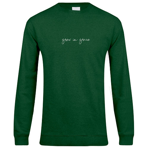 GREEN UNISEX FIT SWEATER
