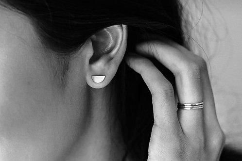 Sterling Silver Half Moon Earrings