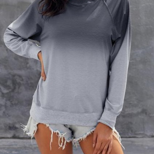 Grey Ombre Ladies Sweater