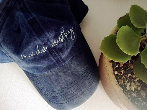 BLUE DENIM MADE WORTHY CAP
