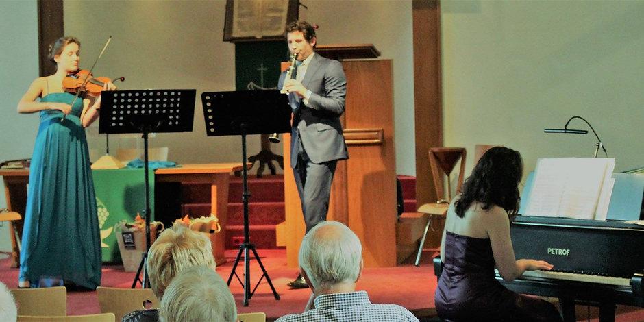 een concert met het Acadia trio in de Oosterkerk te Zwolle