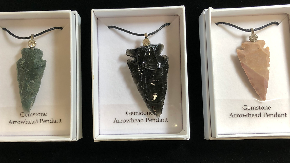 Gemstone Arrowhead Pendant