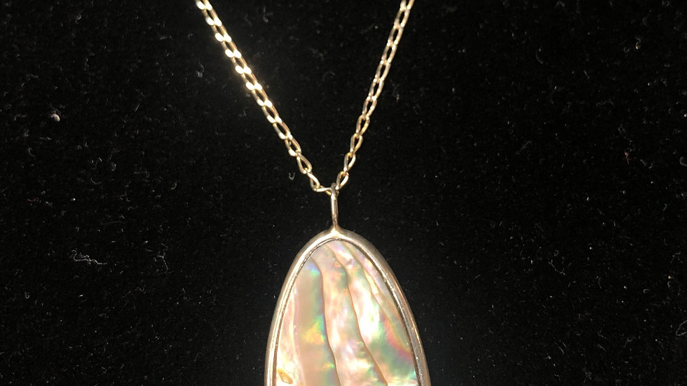 Abalone Pendant in Sterling Silver