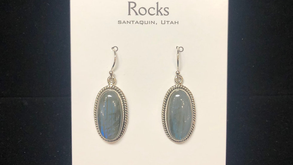 Labradorite in Sterling Silver Earrings