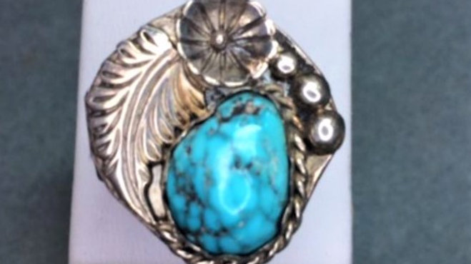 Traditional Style Old Pawn Turquoise Ring