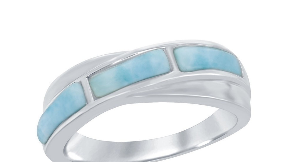 Sterling Silver Larimar Band Ring