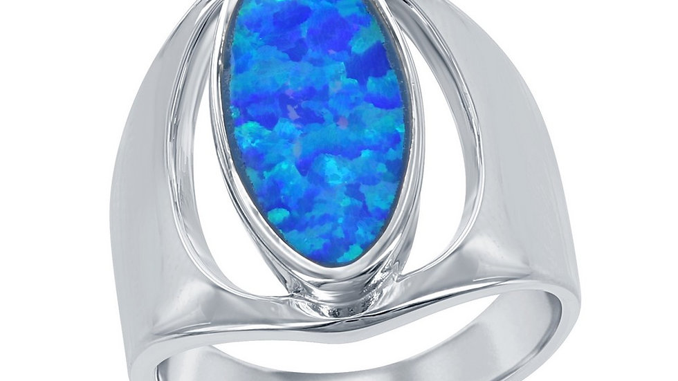 Opal inlay in Sterling