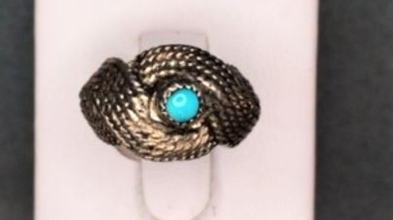Silver Basket Weave Native American Ring