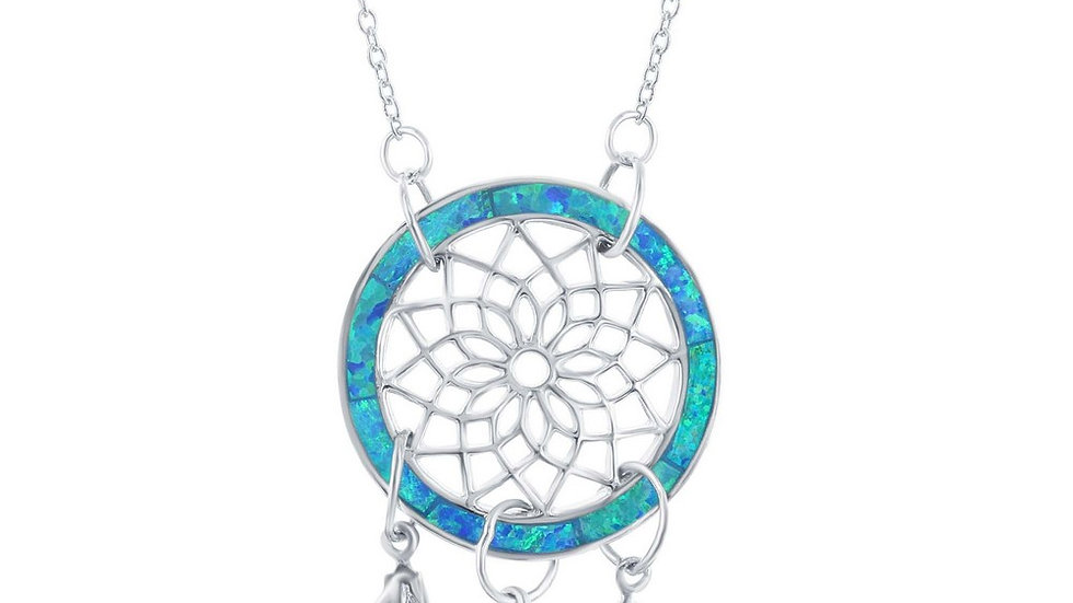 Sterling silver Blue Dreamcatcher