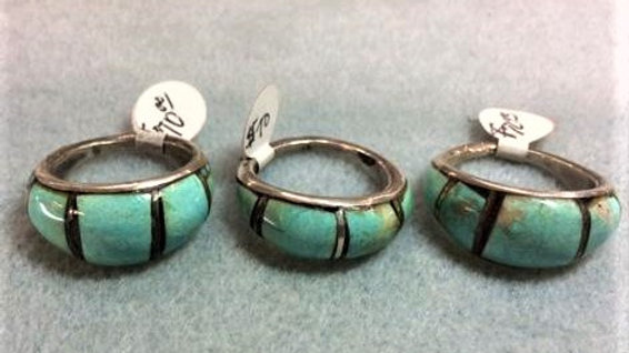 Very old, Heavy Green Turquoise Old Pawn Ring