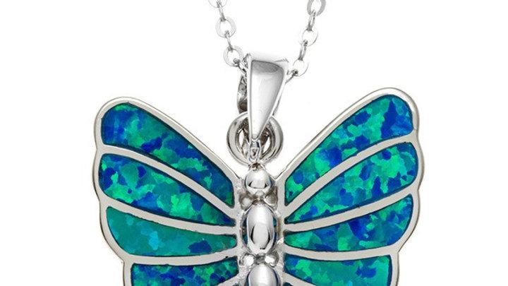 Opal inlay in Sterling Butterfly