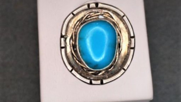 Blue Turquoise Old Pawn Ring