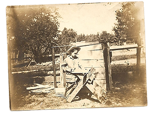 Davison Ray 1908 ray at Oxford sawing.ti