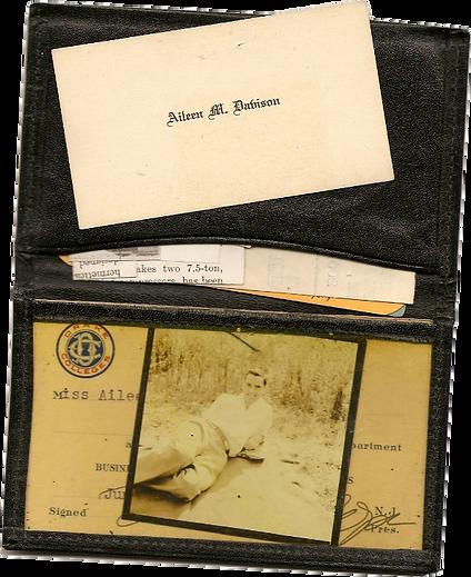 Miss Aileen Davison's wallet 1930