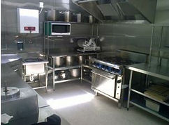 new, stainless, gas hobs, gas oven, pots, blender, cooking, catering