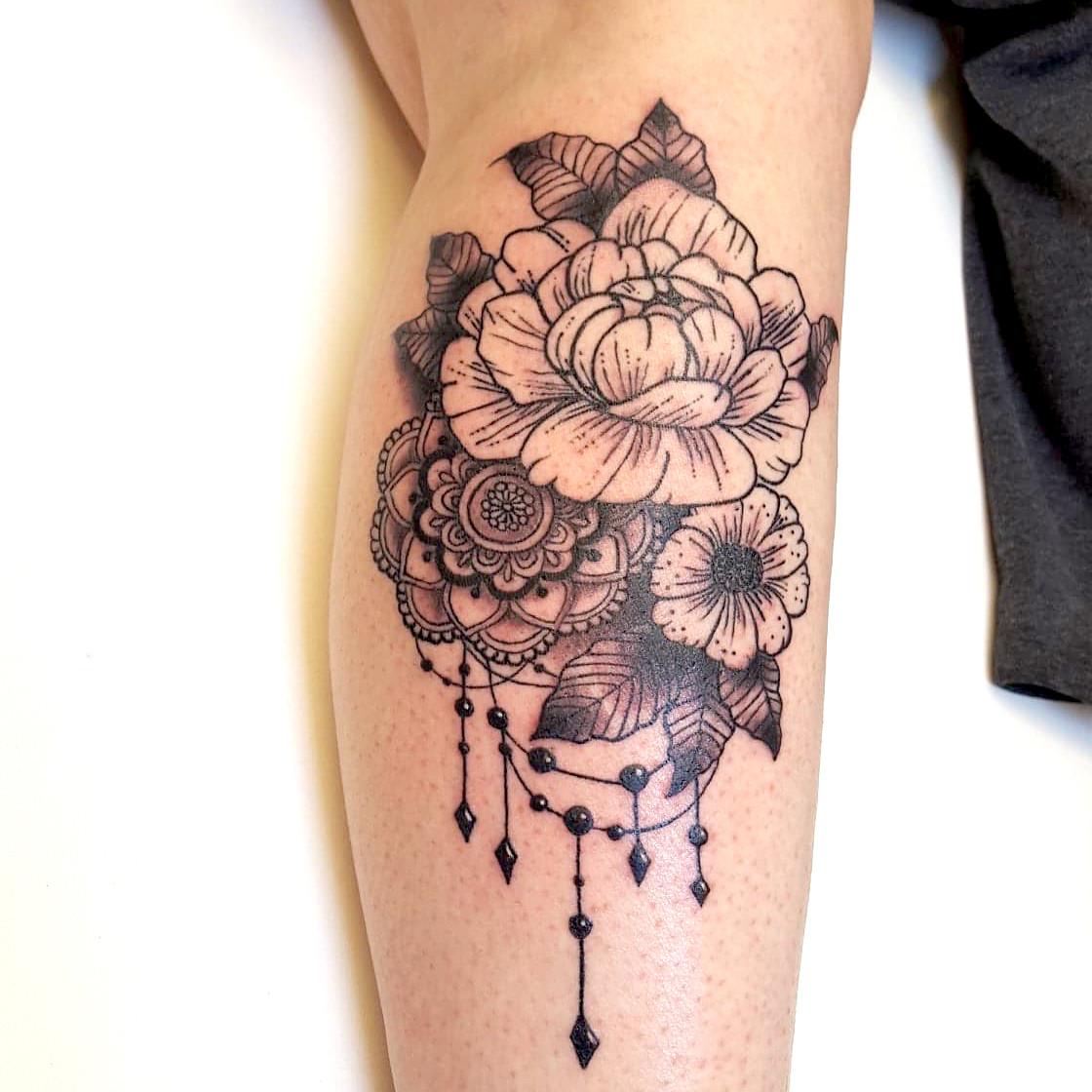 Mandala And Flower Tattoo: Tattoo Studio Manchester