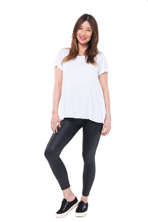 Nom Maternity Date Night Coated Leggings | Black