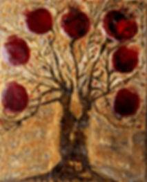 The Tree of Life. Maya Gavasheli 2016. Enamel and resin on canvas. http://www.mayagavasheli.com