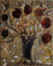 Tree of life. Maya Gavasheli 2015 Enamel and resin on canvas. http://www.mayagavasheli.com