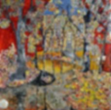 Fairy forest. Maya Gavasheli 2015 Enamel and resin on canvas. http://www.mayagavasheli.com