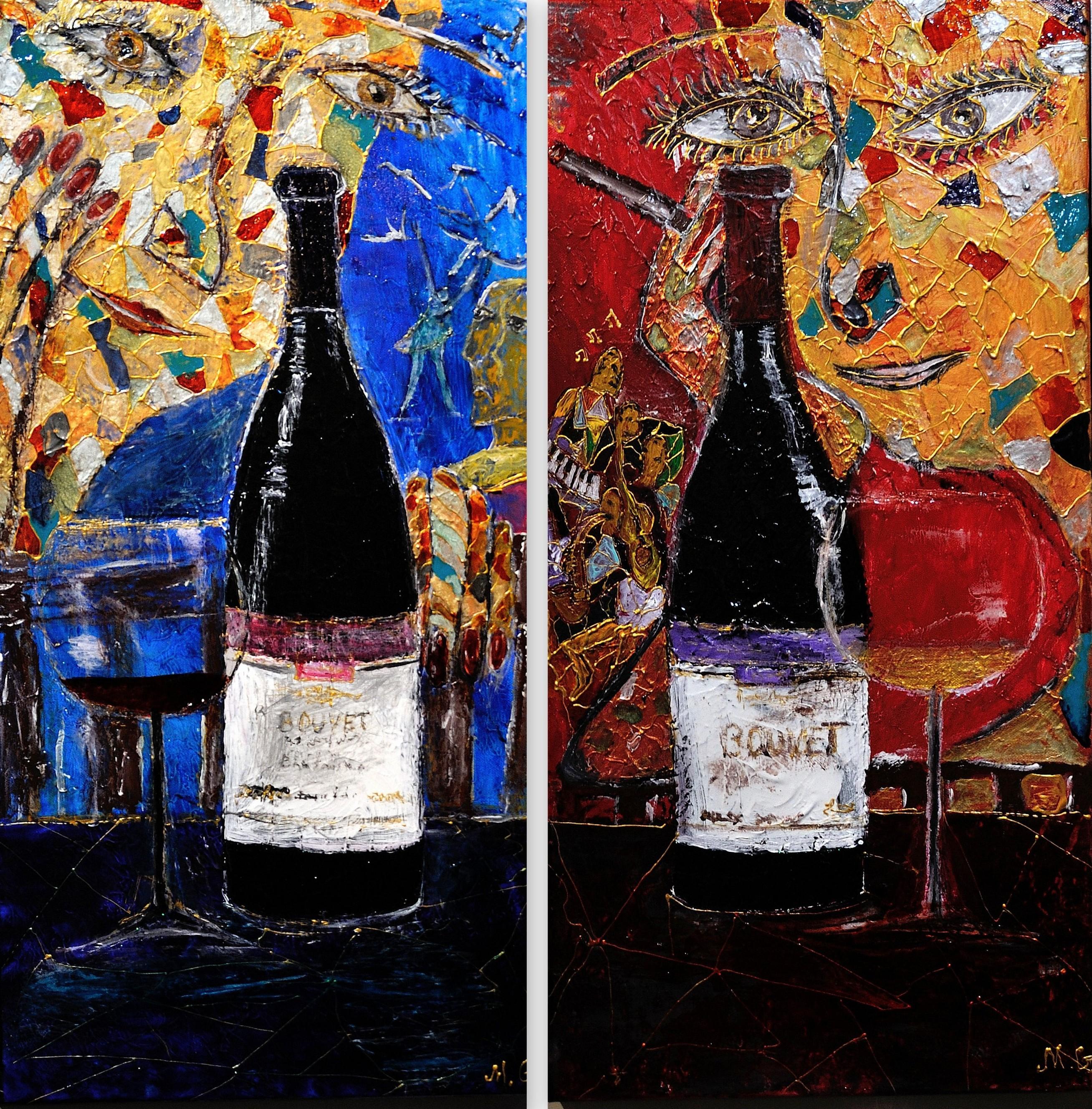 In vino veritas (diptich)