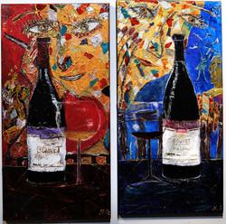 In vino veritas (diptych)