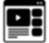 Black and White Icon Of a webpage