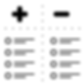 Black and White Icon Of positive and negative assessments