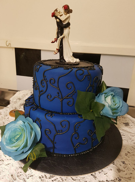 Dramatic Wedding Cake Custom Design