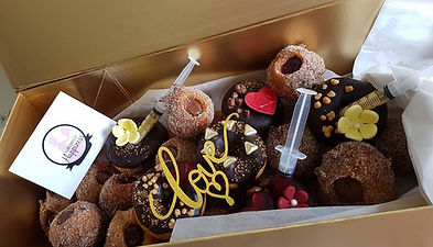 gourmet donut bouquet hand made by guarians of happiness