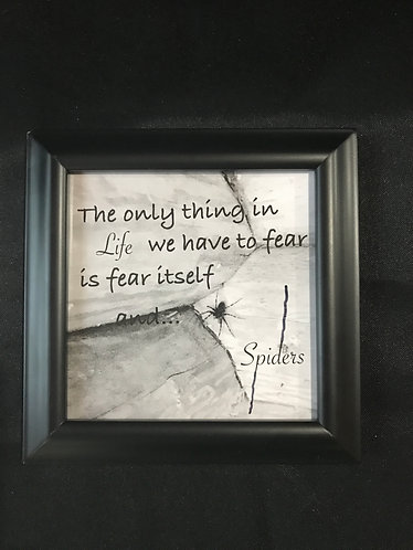 "4.5""x4.5"" Framed Photo - B/W, Fear"
