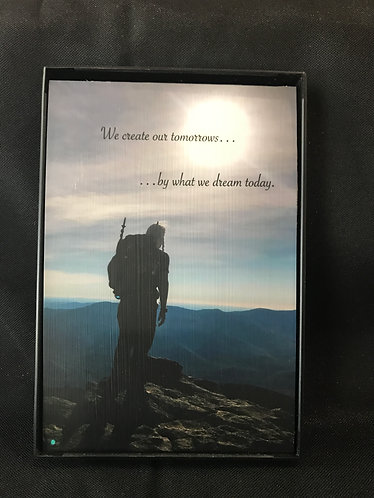 "4""x6"" Framed Photo - color, hiker/tomorrow"