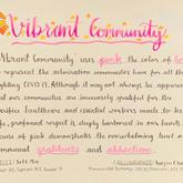 """Vibrant Community"" Calligraphy"