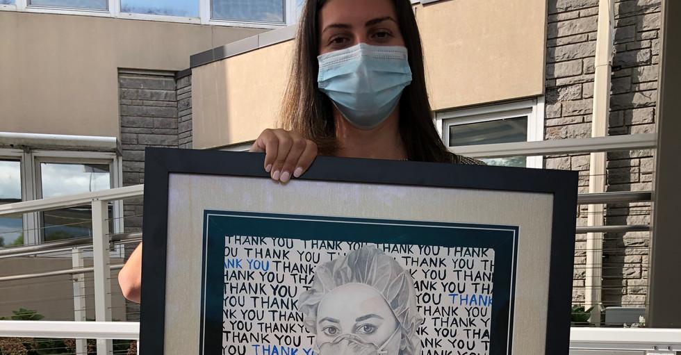TWYC Artwork Donation to Syosset Hospital