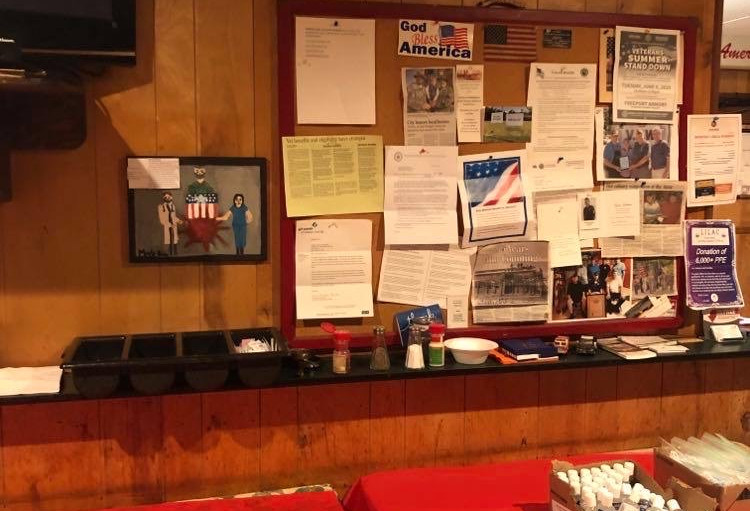 Donating TYWC to the Glen Cove Veterans of Foreign Wars Hall