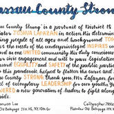 """Nassau County Strong"" Calligraphy"