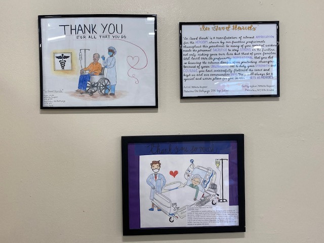 Art Donations to Healthcare Workers at Syosset Hospital