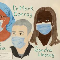 Yvette Kamana, Dr. Mark Conroy, and Sandra Lindsay
