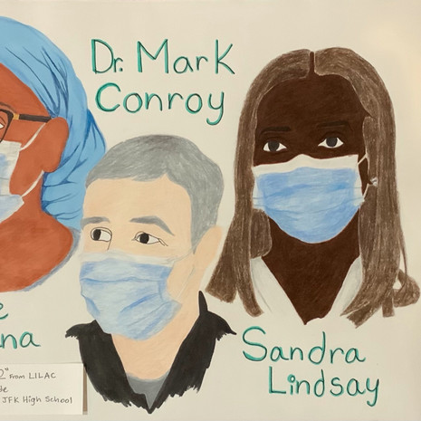 Yvette Kamana, Dr. Mark Conroy, and Sandra Lindsay