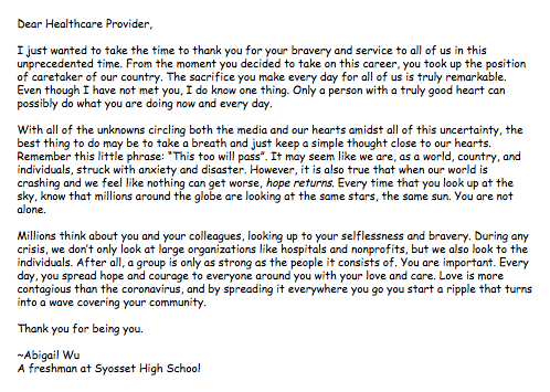 Abigail Wu Syosset, NY Syosset High School, Syosset, NY Grade 9