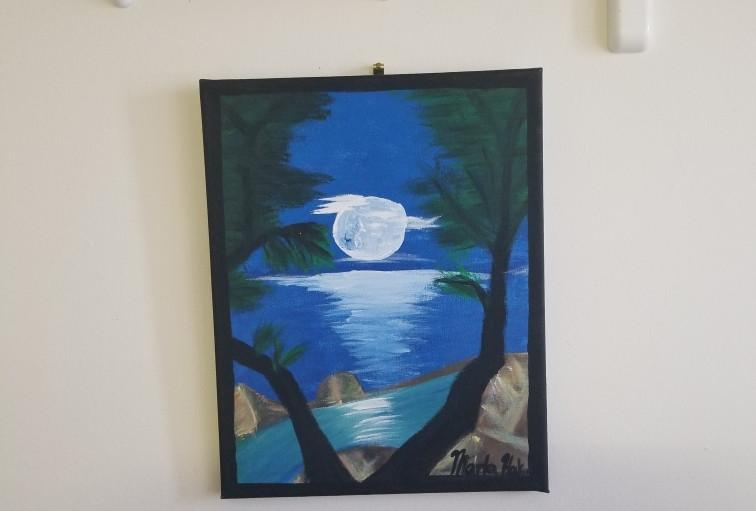 Donating TYWC Artwork to the Excel Rehab & Nursing