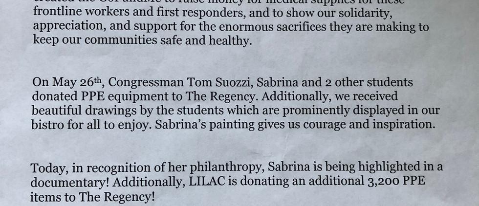 Philanthropist Extraordinare for Sabrina Guo