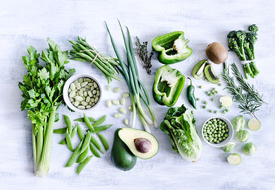 A selection of green vegetables
