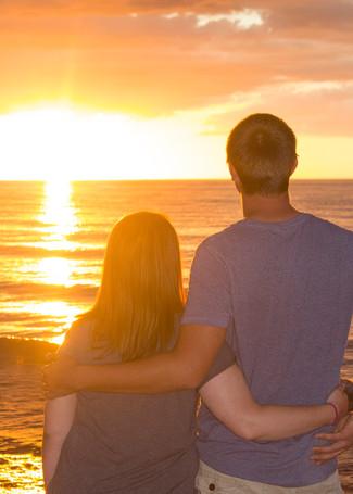 Samantha & Wayne watch the sunset