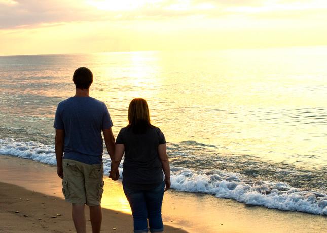 Samantha & Wayne on the beach