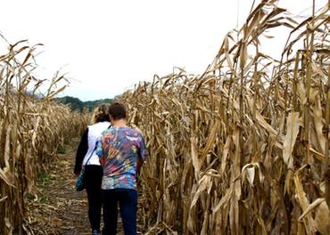 Brooklyn & Kalvin in a corn maze