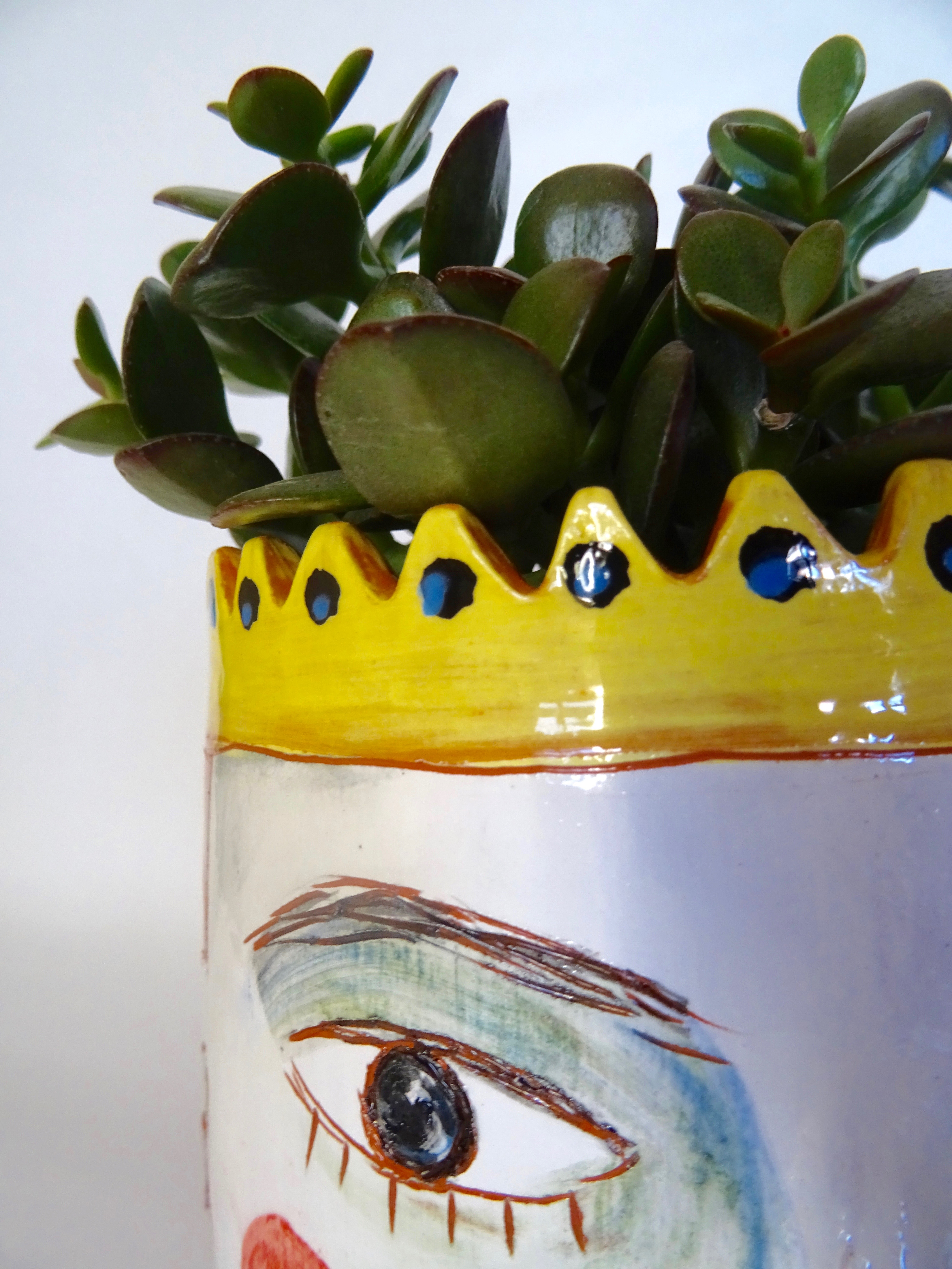 Cache pot Petit Prince jaune